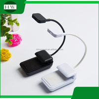 custom logo portable flexible target adjustable plastic cheap wireless small mini led clamp clip work reading book light lamp