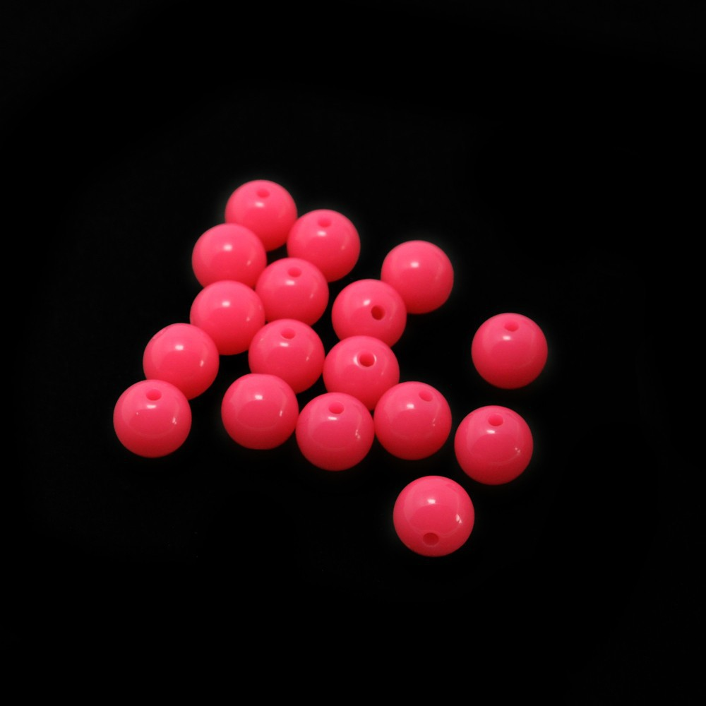 Wholesale 850pcs/lot Rose 10mm Round Fashon Acrylic Loose Beads for DIY Craft DH-BSD104-64