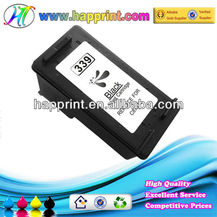 Shenzhen ink cartridge wholesale supply printer inkjet cartridge for HP339 (C8767E)