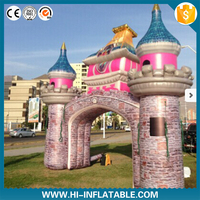 air tusk shape balloon inflatable finish line arch air tusk shape balloon