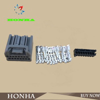 DJ7165C-1-21 PA66 motorcycle Electrical 16 pin female unsealed wire harness connector