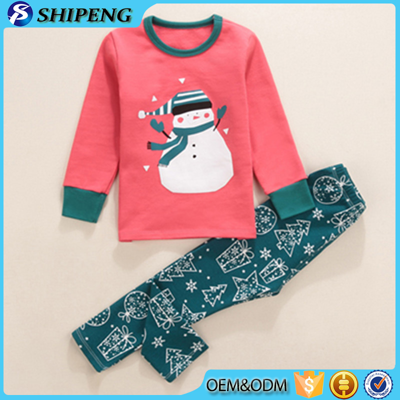 High quality kids christmas pajamas wholesale children clothing manufacturer