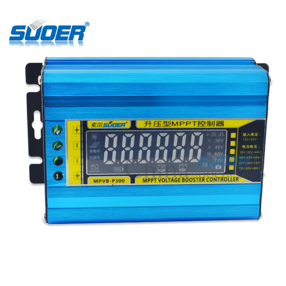 Souer Factory New 12V MPPT Voltage Boost Solar <strong>charge</strong> <strong>Controller</strong> With LCD Display Screen