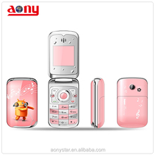 1.44 inch flip celular for lady , dual sim card celular phone