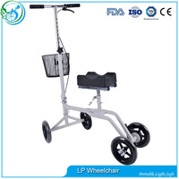 Elderly Used Steerable Knee Scooter Walker