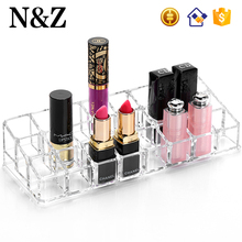NZ C18 Clear Plastic Lipstick Holder Display Customized Cosmetic Lipstick Stand