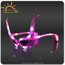 Led fashion sunglasses party Led flashing sunglasses Ox horn flash sunglasses