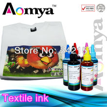 Aomya top quality pigment textile printing ink for Epson Stylus R1390