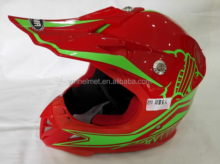 ABS fresh material helmet ECE / DOT approved motorcycle cross helmet for kids (YM-211)