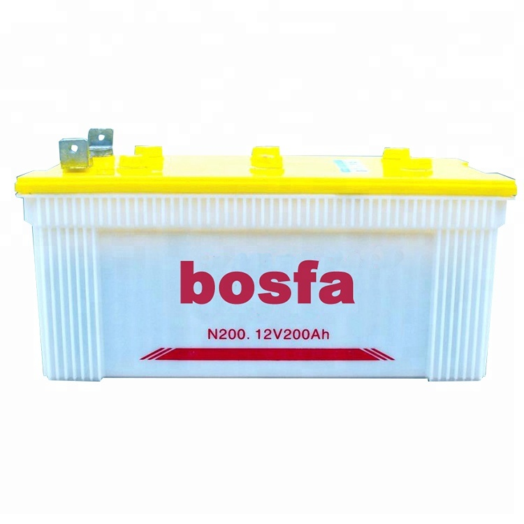 Bosfa dry charged car batteries 12v 200ah for automobile car starting