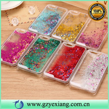 High Quality Cell Phone Flow Quicksand Case For iPhone 6 With Glitter Star