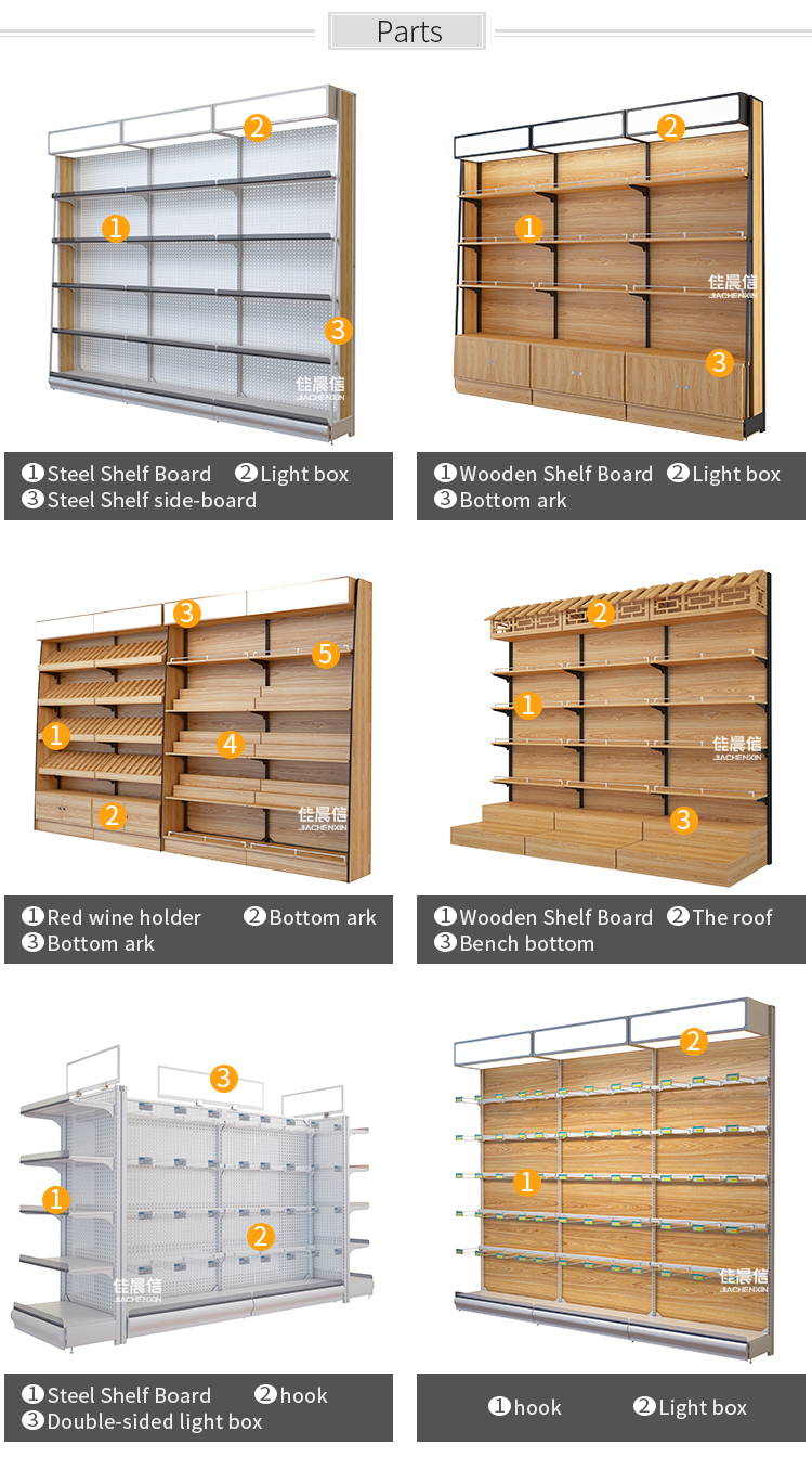 Factory custom advertising display supermarket shelf,display rack for hanging items,store shelving