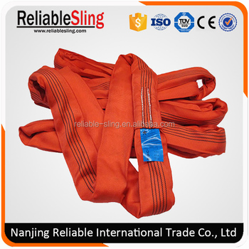 5 Tons Red Polyester Synthetic Fabric Endless Rope Sling