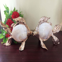 news shell fish home decoration resin crafts