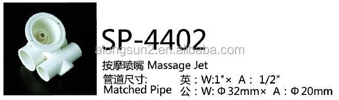 SP-4402D Alongsun Bathtub Accessories supplier whirlpool bathtub water jet