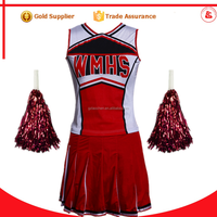 cheap wholesale party school japan girl sex costume sexy pom-pom girl glee cheerleader costume