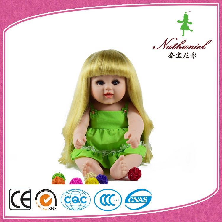 Lovely make up doll toy with fashion wig