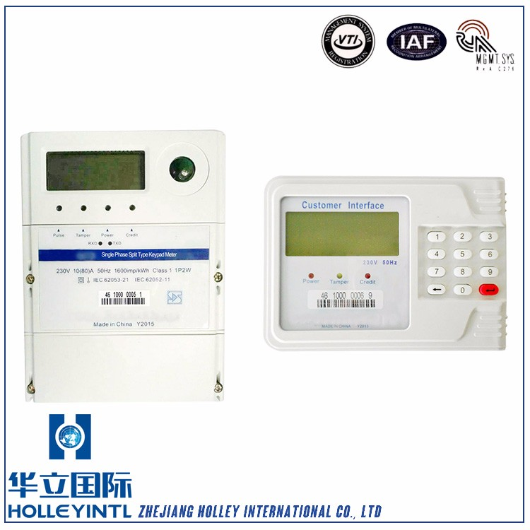 Real time measures voltage current frequency,active power etc Single Phase Stop Digital Electric Energy Meter For Home Applianc