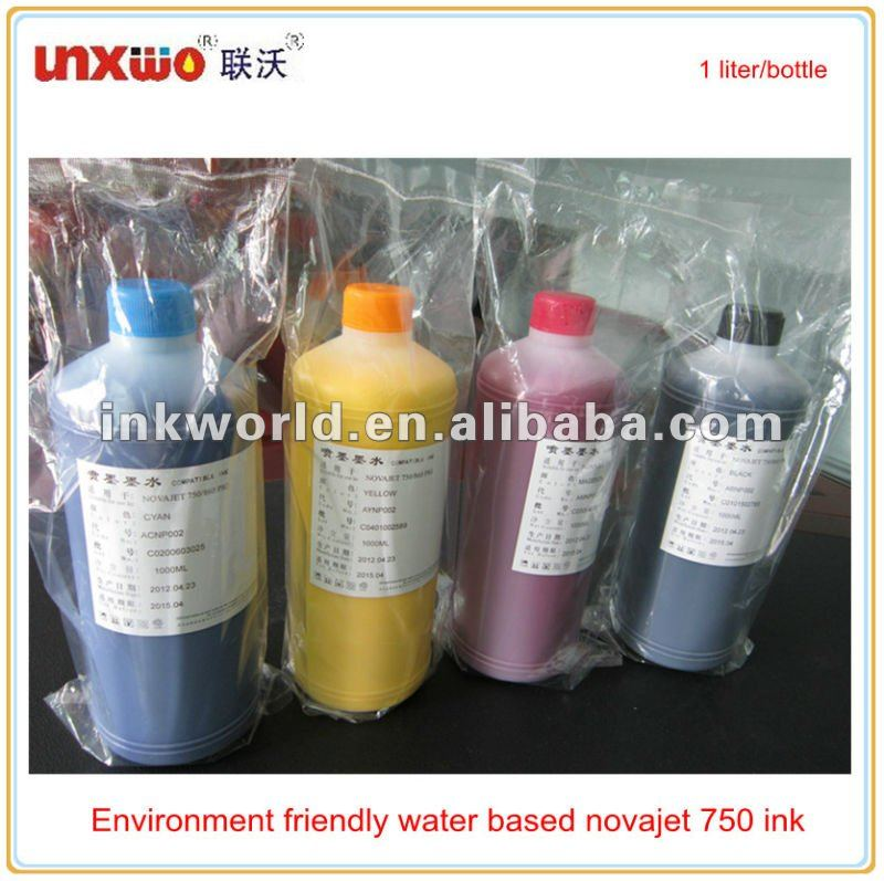 Environment friendly water based novajet 750 ink