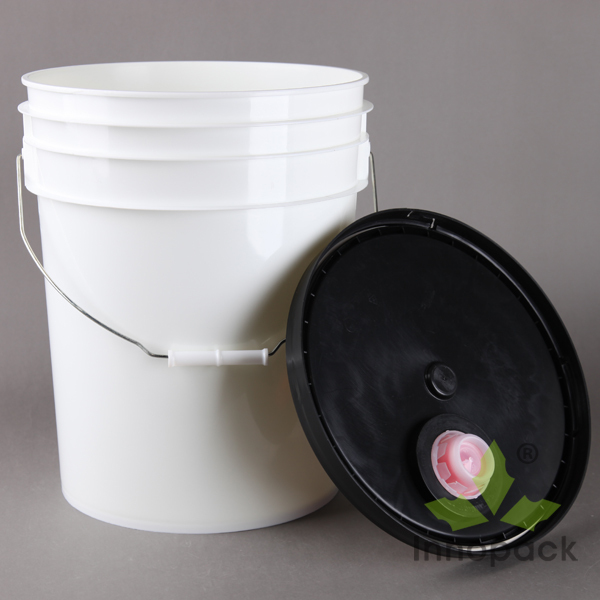 Printed clear plastic paint bucket 5 gallon with good for 1 gallon clear plastic paint cans