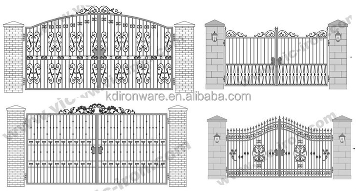 Simple Morden Wrought Iron Main Gate Design Buy Main