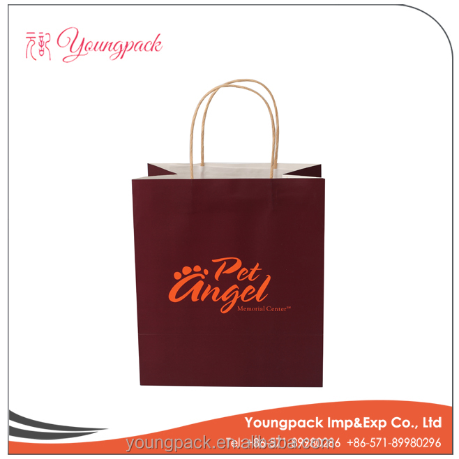 Cheap Customized Kraft Paper Shopping Bag for Shopping