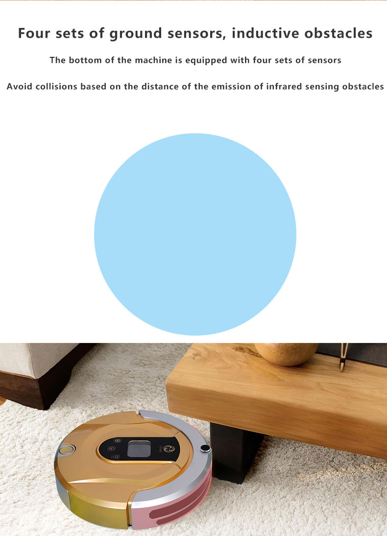 2017 Newest Colorful Wifi Controlled Robot Vacuum Cleaner,Wifi Smart Robot Vacuum