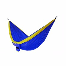 Feistel Double Camping Hammock & FREE 9ft straps - Lightweight & Compact - For Backpacking, The Beach, Back Yard