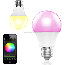 16000000 Colors No Hub and Controler Required Dimmable smart Bluetooth rgb led lighting bulb