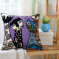 Fashionable Cotton Sofa Cushion with Towel Embroidery