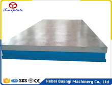 Precision Welding Machine Bed Cast Iron Surface Plate With Support