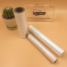 Customized size clear flat plastic bag on roll with paper core