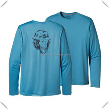 Custom made long sleeve technical performance moisture wicking dri fit anti UV outdoor fishing t shirt wholesale