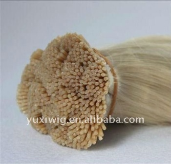 100% human hair stick hair extensions brazilian virgin hair