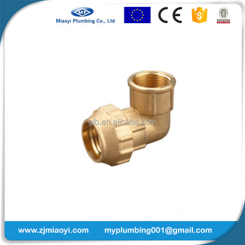 Brass Compression Fittings for PE Pipe - Female Elbow