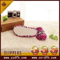 women warm cute bow plush soft sex indoor bedroom slipper