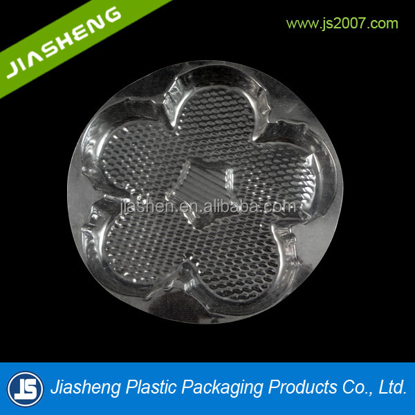 Clear plastic food grade biscuit, cupcake and cookie plastic blister packaging box and container