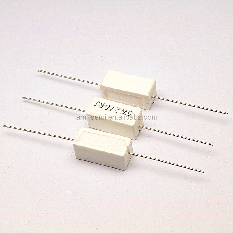 Cement resistor 5W 10W 20W lead type