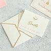 Custom luxury handmade decoration full color greeting card printing thank you cards with envelope