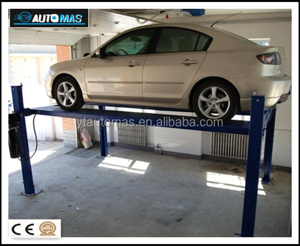 Four post car parking lift for No.1 quality with CE certification