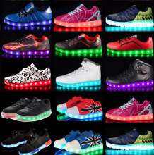 2016 new design factory supply OEM casual sport sneaker shoe with led light