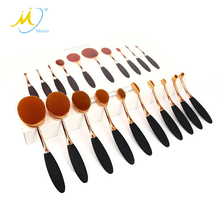 Professional Makeup Tool Kit 10 PCS Soft Oval Toothbrush Make Up Brush Set