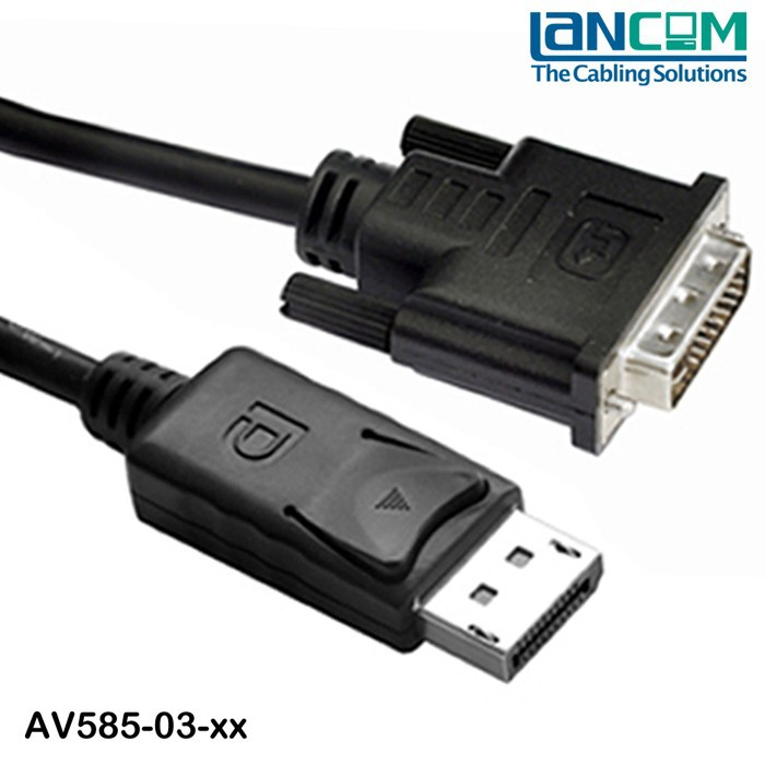 ROHS Displayport cable 20P M to DVI 24+1 M, NICKLE PLATED