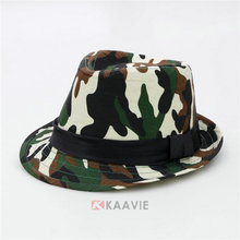 camo camouflage army military fedora hat