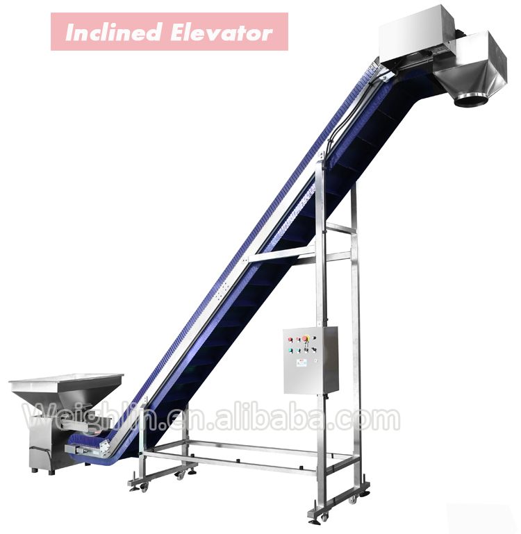 High speed Z shape bucket elevator chain conveyor for granules potato chips pet foods beans