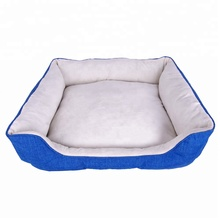 Wholesale removable machine washable pet supplies large cation oxford dog bed for pets