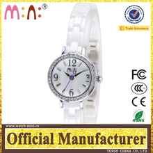 Korea mini brand small size dial ceramic ladies geneva watch japan movt water resistant