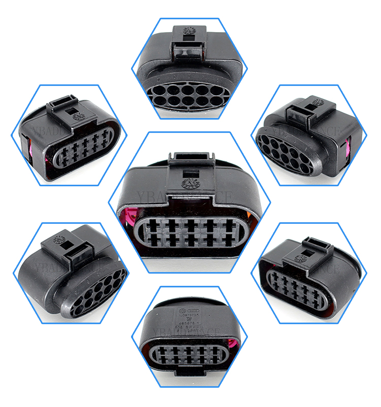 1J0973735 female sealed 10 pin connector for VWs audis skodas