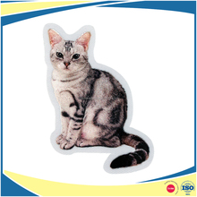 Self Adhesive Embroidery with Sublimated printing Cat Patch for Decoration