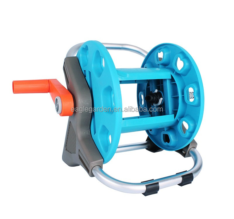 15m Garden Hose Reel With Aluminum Armreset And Stand   Buy Garden Hose Reel  Electric,Hose Reel Rack,Hose Reel Rack Product On Alibaba.com